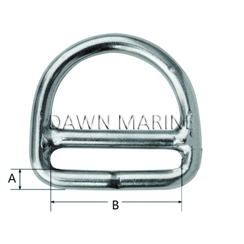 Stainless Steel D Ring With Bar-2