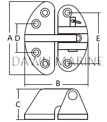 Stainless Steel Hatch Hinge 11-2