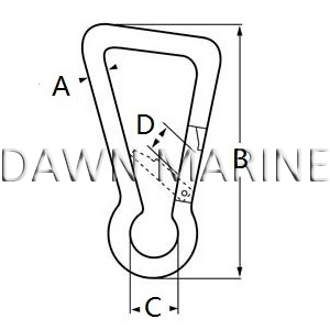 Stainless Steel Oblique Angle Snap Hook-2