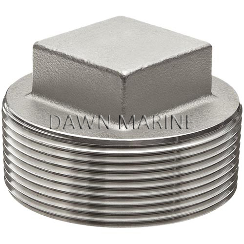 Aisi stainless steel square head plug dawn marine