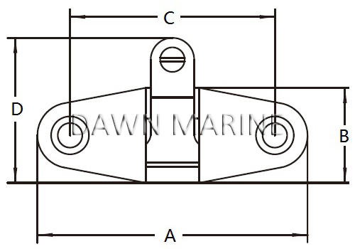 Stainless Steel Swivel Deck Hinge 20-2