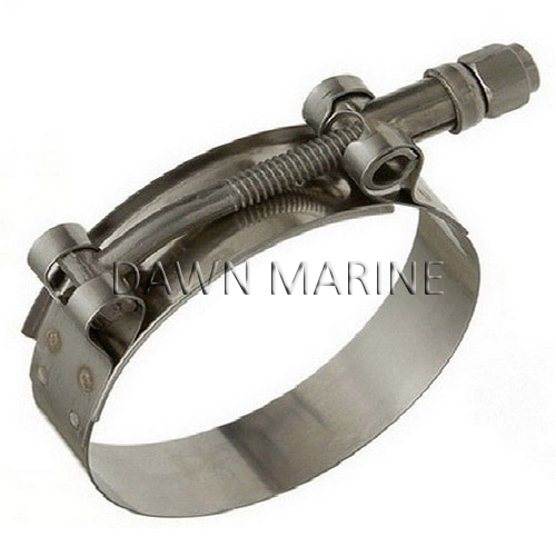 Stainless steel t bolt hose clamp dawn marine