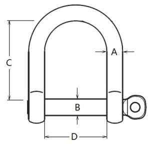 Stainless Steel Wide D Shackle-2